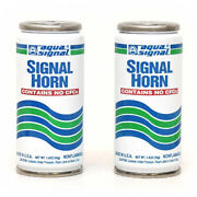 Aqua Signal Boat Horn Refill Canisters | 1.4 Oz White Green Pair