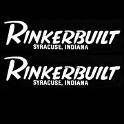 Rinker Boat Decals   Rinkerbuilt Syracuse Indiana White 11 1/2 Inch 2pc