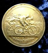 1900 Olympic Paris Cycling Bicycle Competition Silver Medal 38gr