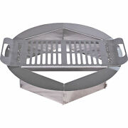 Stainless Steel Portable Hexagonal Outdoor Wood Fire Pit Ring W/ Cooking Grate