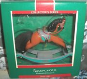 Rocking Horse`1989`is Ninth In The Rocking Horse Series,hallmark Tree Ornament