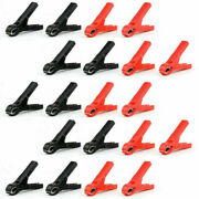 20 X High Quality 30a Car Battery Clip Alligator Clips Pliers Cables Test S F05