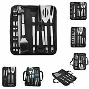 Bbq Tools Set Spatula Fork Tongs Brush Skewers Camping Outdoor Cooking Tool S C❤