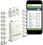 Emporia Smart Home Energy Monitor With 16 50a Circuit Level Sensors   Real Time