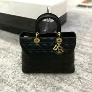 Dior Christian Lady Large Black F/s From Jp