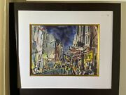 Jack Laycox City Street Nocturne Watercolor