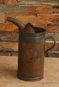 Vintage Maytag Motor Oil And Gas Fuel Mixing Can Tin With Handle And Spout