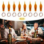 Wine Bottle Cork Lights8 Pack Battery Operated Led Candle Flameless Tealight Cor