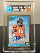 2018 Optic Playoff Preview Courtland Sutton Rc Rookie Bronze Auto /24 Hga 9.5