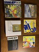 Pokemon Gold Version Nintendo Game Boy Color Tested/working Great Box Condition