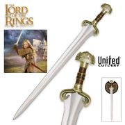 Lotr Sword Of Eowyn With Plaque United Cutlery Officially Licensed Collectible