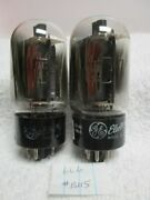 Pair Rca Ge 6l6gc Tubes Tested. For Mcintosh Mc240 30 40 Amp
