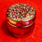 New 💫fantastic Look Holographic Glitter Metal Herb Grinder 1.5 Inch 4 Piece
