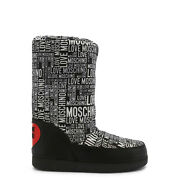 Love Moschino All Over Logo Print Womenand039s Boots Black/white/red