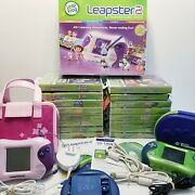 Leapfrog Leapster 2 Bundle - 2 Consoles, Cases And 16 Games Boy/girl Lot
