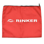 Rinker Boat Owners Manual Pouch | Zippered 17 1/2 X 14 Inch Red