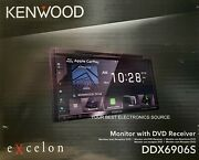 New Kenwood Ddx6906s 2-din 6.8 Cd/dvd Car Stereo W/ Carplay And Android Auto