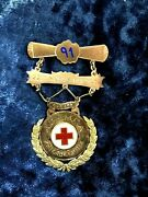 1891 United States A.d.y.m.c.a Philadelphia Gold Medal 220yards Hurdle Red Cross