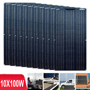 1000w 10x100w Flexible Monocrystalline Solar Panel For Car Battery And Boat And Home