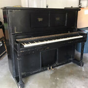 Vintage Story And Clark Wooden Upright Piano Antique Piano
