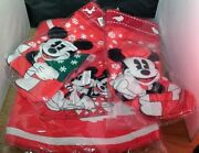 Disney Parks Christmas Mickey Minnie Tree Skirt Matching Stocking And Tree Topper
