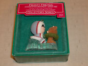 1986 Hallmark Frosty Friends 7th In The Series Christmas Ornament Qx405-3 And Box