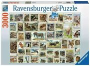 New Ravensburger 17079-1 Animals Stamps 3000 Piece Jigsaw Puzzle Retired