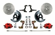 Leed Brakes Rfc1003m1a3x Front Disc Brake Kit W/2 In. Drop Spindles Gm A/f/x-bod