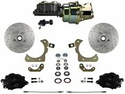 Leed Brakes Fc1010-k105x Front Disc Brake Kit W/ Factory Spindles Chevy Tri-five