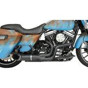 Harley Drag Specialties Python Rayzer Exhaust System Black 07-16 Touring