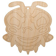 Cute Bee Mad Grumpy Unfinished Craft Wood Holiday Christmas Tree Diy Ornament