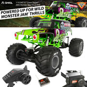 New Axial 1/10 Smt10 Grave Digger 4wd Monster Jam Truck Rtr Grn Free Us Ship