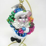 Radko Mouse Christmas Ornament 8 Of 400 Limited Edition 2003 Callahans 6 Blue