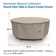 Budge Patio Table Chair Cover Round Elastic Hem Fade Resistant
