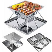 Portable Folding Stainless Steel Charcoal Bbq Grill Outdoor Camping Picnic