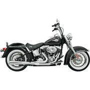 Harley Bassani - Exhaust System 21 Road Rage Chrome 86-17 Softail Heritage Fat