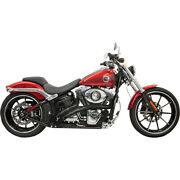Harley Bassani - Exhaust System Radial Sweeper 86-17 Fx Dyna Softail Black