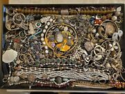 Incredible Eclectic Vintage Sterling Silver Jewelry Lot Absolutely No Scrap