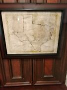 Texas Original Vintage Map 1856. From Colton's Atlas Of The World Of 1856