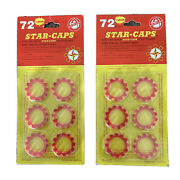 2 New Packs Of 72 Star-caps For Wasp Westerner Chief And All 8 Shot Cap Guns C-123