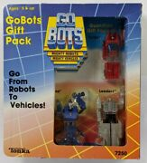 1985 Tonka Go Bots Guardian Gift Pack Leader-1 Flip Top Turbo Carded 3-pack Mib