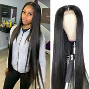 Straight Lace Front Human Hair Wig Middle Part Hd Wig With Baby Hair Pre Plucked