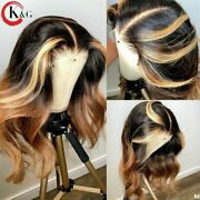 Highlight Lace Front Human Hair Wigs With Baby Hair Brazilian Lace Wigs Non-remy