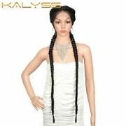 36 Inches Extra Long 360 Lace Front Braided Wigs Synthetic Wig With Baby Hair