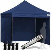 Eurmax 8'x8' Ez Pop-up Canopy Tent Commercial Instant With 4 Removable Zipper