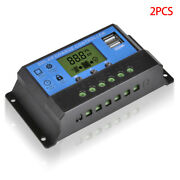 2 Pieces Lcd 30a Solar Charge Controller Regulator Intelligent Pwm Timer Usb