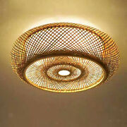Rattan Retro Lamp Shade Hotel Replacement Ceiling Lighting Shades Cover