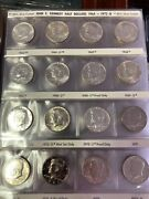 Complete Kennedy Half Dollar Set 1964-1999 Silver Bu And Proof Harco 96 Coins