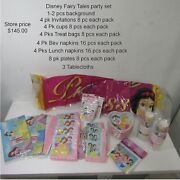 Disney Princess Fairy Tales Party Supplies Bundle Party For 32 New Sealed