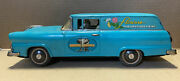 Bandai Tin Friction 1955 Ford Fairlane 500 Wagon Flowers For Gracious Living